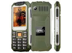 Кнопочный защищённый телефон Vkworld Stone V3S Green