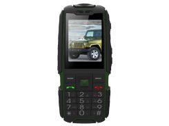 Кнопочный мобильный телефон Land Rover Jeep X6000 Green