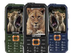 Кнопочный мобильный телефон Land Rover Giowee T19 Green 3-SIM
