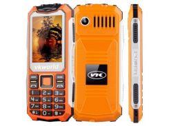 Кнопочный защищенный телефон Vkworld Stone V3S IP54, TFT 2.4 дюйма, 2 сим карты, 2200 mAh оранжевый