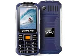 Кнопочный защищенный телефон Vkworld Stone V3S IP54, TFT 2.4 дюйма, 2 сим карты, 2200 mAh синий