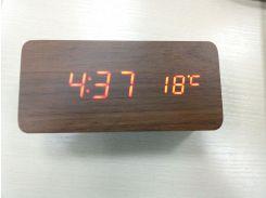 Часы Led настольные под дерево 862-1