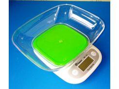 Весы кухонные Domotec ACS SH-125 до 7 кг с чашей и батарейками