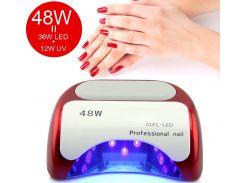 Лампа для сушки ногтей Beauty nail K18 48W лампа гибрид CCFL+LED