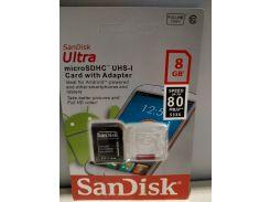Карта памяти TF CARD 8GB SanDisk