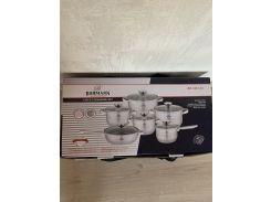 Набор кастрюль и сковорода из нержавеющей стали набор кухонной посуды 12 пр