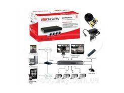 Комплект видеонаблюдения Turbo HD Hikvision DS-J142I/7104HGHI-SH