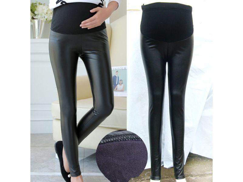 7a8ed21dfb8d YWHUANSEN PU Leather Pregnant Women s Leggings Autumn Winter Warm Pants For  Femme Enceint Plus Thin Velvet