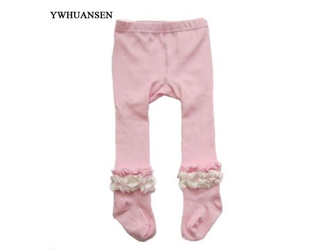 9b0d95d5f970 YWHUANSEN Spring Autumn Children Tights For Girls White Baby Pantyhose  Ruffles Collant Cotton Pantyhose On A Girl Kids Princess