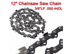 "12"" Meatal Chainsaw Saw Chain Blade 3/8""LP .050 44DL Sharp Blade Quickly Cut Wood Easy Maintenance"