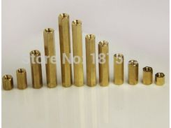 M3 Brass Hex Standoff Spacer Double-pass Column M3 Female x M3 Female M3*4/5/6/8/10/12/15/18/20/25mm