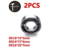 2pcs 688 Mixed Ceramic Bearings 8*16*5mm 6*17*6mm 8*22*7mm 420 Stainless Steel For Fingertip Gyroscope Toys Gyro Bearings