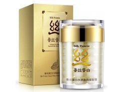 Silk Protein Aqua Shiny Moisturizing Facial Cream Original Ecology Natural Silk Skin Care Anti Wrinkle Whitening 60g