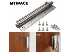 MTSPACE 1 Set Stainless Steel Adjustable Surface Mounted Auto Closing Door Closer Fire Rated Door Hardware Fully Adjustable