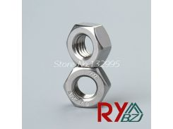 50pcs/lot Stainless steel hex nut Inch Thread UNC hex nut 2#-56 4#-40 6#-32 8#-32 10#-24 1/4-20 5/16-18 3/8-16 7/16-14 1/2-13