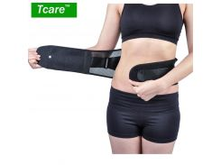 Tcare Adjustable Double Pull Brace Lumbar Lower Back Brace and Support Belt with Dual Adjustable Straps Breathable Mesh Panels