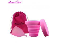 2 Pcs Lady Menstrual Cup For Women Menstrual Care Collector Menstrual Cup Sterilizer Silicone Copa Menstrual Sterilizer Coletor