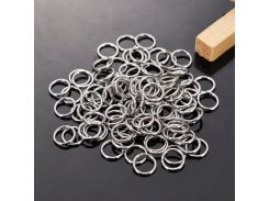 DoreenBeads 500 Stainless Steel Open Jump Rings 8mm Dia. Findings (B10272)
