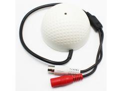 100 Square Meters Mini CCTV Security Surveillance Microphone CCTV Audio Pickup Input For CCTV Cameras DVR Systems