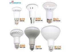 VisWorth R39 R50 LED Lamp E14 LED Light Bulbs 3W 5W 7W 9W 12W 15W 20W AC 110V 220V 240V Cold White E27 LED Lights Decoration