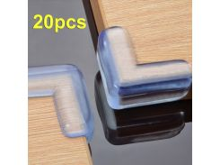 20pcs  safety products table Corner Edge Protection Cover Child Safety Protector Silicone Anticollision Edge & Corner Guards