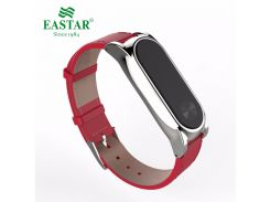 Eastar Smart Watch Accessories Band For XiaoMI Band Stainless Bracelet Replace Wristbands Leather Strap For Mi Band 2
