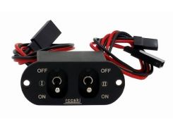 Rccskj Heavy Current Dual Charging Switch Fit FUTABA/ JR connector For RC Car Airplane Model
