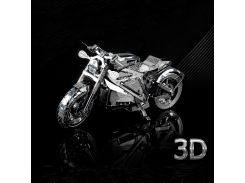 Diy Learning Education Brain Teaser 3d Metal Puzzle Games Model Kids Toys for Children Adults Gift Jigsaw Motorcycle