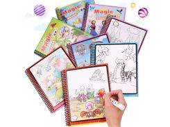 8 Designs Kids Educational Toys Water Magic Drawing Book Water Painting Board Coloring Book Drawing Toys with Magic Doodle Pen