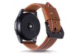 22MM Retro Vintage Genuine Leather Strap Replacement for Samsung Gear S3 Classic Frontier and Moto 360 2nd Gen 46mm Watch