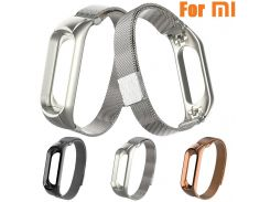 Newest watchband Strap Milanese Magnetic Loop Stainless Steel Wrist Strap Watch Bands Strap Bracelet for xiaomi mi band 3