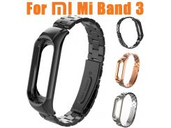 NEW Watchbands For Xiaomi Mi Band 3 Fashion Stainless Steel Luxury Wrist Strap Metal Wristband Mi Band 3 Watch Strap Band