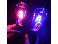 TSLEEN Led Filament Edison lamp ST64 colorful lamp e27 85-265V led light bulbs 8w globe lampada led for home party decor lampara