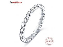 LZESHINE Romantic Ring For Women Authentic 925 100% Solid Sterling Silver Forever Love Finger Ring Fine Jewelry PSRI