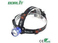 BORUiT XML T6 LED Headlamp Zoomable Flashlight 3 Modes Portable Camping Hunting Headlight Waterproof Head Torch Light Lantern