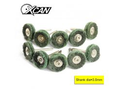 XCAN 10pcs Fiberglass flat wheel brush for Dremel rotray tools