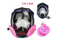 3 In 1 Suit Paint Spray Double Use Gas mask Same For 3M 6800 Full Face Mask Facepiece Industry Respirator With 3M 2091