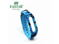 Eastar Smart Watch Strap For XiaoMI Band Accessories Colorful Replacement Wristbands Light Blue Silicone Band For Mi Band 2