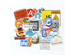 30pcs Pvc  Waterproof  Internet theme Sticker For Geek programmer  cloud data Represent yourself java C++ phpStickers