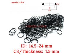 10pcs NBR ID 14.5 15 15.5 16 16.5 17 17.5 18 18.5 19 19.5 20 20.5 21 21.5 22 22.5 23 23.5 24mm x Wire 1.5mm Oil Seal Rubber Ring