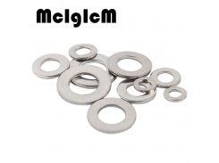 McIgIcM 100pcs DIN125 Washer M1.6 M2 M2.5 M3  M4 M5 M6 M8 304 Stainless Steel Flat Machine Washer ISO7089 Plain Washer