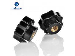5Pcs M4 M5 M6 M8 Plum Bakelite Hand Tighten Nuts Handle Star Mechanical Black Thumb Nut HW083