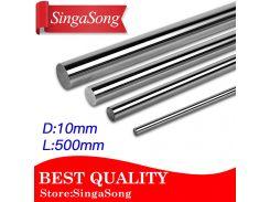 2pcs/lot 3D printer parts 10mm linear shaft rod 10mm L500mm chrome plated linear motion rail round rod Shaft for cnc parts
