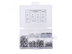 300Pcs/set M2.5 M3 M4 M5 M6 M8 Mix DIN6798A 304 Stainless Steel Washers External Toothed Gasket Serrated Lock Washer Kit HW051