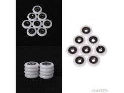 8 Pcs Bath cabinet roller wheel shower room accessories bearing roller wheel 5*23*5.7mm G25 Drop Ship