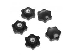 5Pcs M6 Female Thread Star Shaped Head Clamping Nuts Knob For Industry Equipment  -Y103
