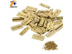 30*18mm furniture connectors 4 hole small wooden gift box hinge small wooden hinge In Stock 50pcs