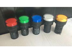 10pcs AD16-22D/S LED Power Indicator 22mm AC220V Signal Light Pilot Lamp