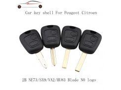 GORBIN 2 Buttons Remote Car Key Fob Case For PEUGEOT For Citroen PARTNER HU83/VA2/NE73/SX9 Blade