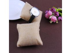 12pcs Watch Pillow Small Linen Flannelette Bracelet Watch Pillow Jewelry Concise Displays 8*8cm 2018 New Arrival